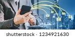 double exposure banner of...   Shutterstock . vector #1234921630
