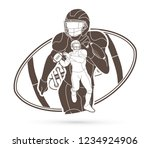 american football player ... | Shutterstock .eps vector #1234924906
