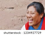 native american woman laughing. ...   Shutterstock . vector #1234927729