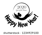 2020 happy new year greeting... | Shutterstock .eps vector #1234929100