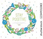 vector bright summer wreath... | Shutterstock .eps vector #1234931083