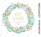 vector bright summer wreath... | Shutterstock .eps vector #1234931086