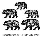 momma  daddy  grampy  grammy ... | Shutterstock .eps vector #1234932490