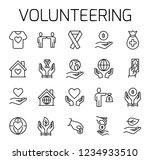 volunteering related vector... | Shutterstock .eps vector #1234933510
