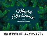 merry christmas and happy new... | Shutterstock .eps vector #1234935343