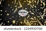 modern magic glitter confetti ... | Shutterstock .eps vector #1234935700