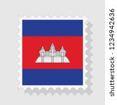 cambodia flag postage stamp  ... | Shutterstock .eps vector #1234942636