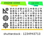 vector icons pack of 120 filled ... | Shutterstock .eps vector #1234943713