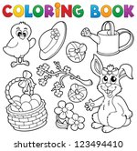 Coloring Book With Easter Them...