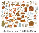 merrry christmas objects items...   Shutterstock .eps vector #1234944556