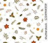merry christmas winter foliage... | Shutterstock .eps vector #1234944559