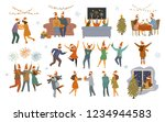 people celebrating merry... | Shutterstock .eps vector #1234944583
