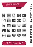 vector icons pack of 25 filled... | Shutterstock .eps vector #1234944646