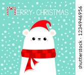 merry christmas candy cane.... | Shutterstock .eps vector #1234946956