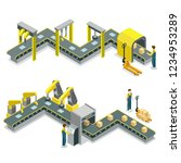 production line isometric 3d... | Shutterstock . vector #1234953289