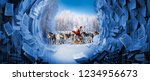 santa claus are near his... | Shutterstock . vector #1234956673