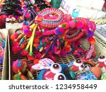 colorful hair bow northern... | Shutterstock . vector #1234958449
