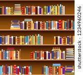 cartoon vintage bookshelf...   Shutterstock .eps vector #1234960246