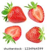 strawberry isolated on white... | Shutterstock . vector #1234964599