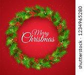 merry christmas celebration... | Shutterstock .eps vector #1234965280