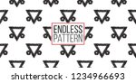 tribal decorative triangle.... | Shutterstock .eps vector #1234966693