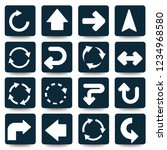 arrow vector icon set | Shutterstock .eps vector #1234968580
