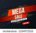 abstract mega sale banner with... | Shutterstock .eps vector #1234972510