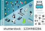 isometric cinematography... | Shutterstock .eps vector #1234980286