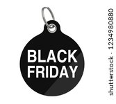 black friday sale tag on a... | Shutterstock . vector #1234980880