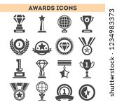 champion awards of different... | Shutterstock . vector #1234983373