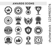 champion awards of different... | Shutterstock . vector #1234983376