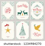 ornate vertical winter holidays ... | Shutterstock .eps vector #1234984270