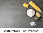 flat lay composition with corn...   Shutterstock . vector #1234985023
