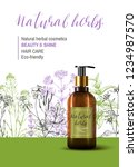 natural herbal cosmetic. 3d... | Shutterstock .eps vector #1234987570