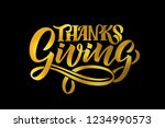 hand drawn thanksgiving... | Shutterstock .eps vector #1234990573