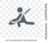 curling icon. trendy flat... | Shutterstock .eps vector #1234992406