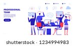 profession team. employees work ... | Shutterstock .eps vector #1234994983