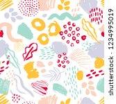 modern seamless pattern with... | Shutterstock .eps vector #1234995019