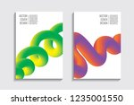 blended covers with gradient... | Shutterstock .eps vector #1235001550