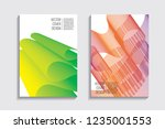 blended covers with gradient... | Shutterstock .eps vector #1235001553