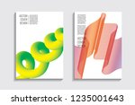 blended covers with gradient... | Shutterstock .eps vector #1235001643