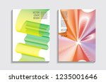 blended covers with gradient... | Shutterstock .eps vector #1235001646