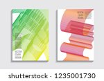 blended covers with gradient... | Shutterstock .eps vector #1235001730