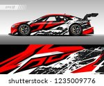 vehicle graphic livery design... | Shutterstock .eps vector #1235009776