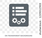 control panel icon. trendy flat ... | Shutterstock .eps vector #1235012503