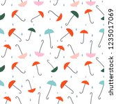 umbrellas   seamless pattern....   Shutterstock .eps vector #1235017069