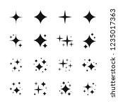 black sparkles symbols vector.... | Shutterstock .eps vector #1235017363