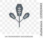 spear shaped icon. trendy flat... | Shutterstock .eps vector #1235024443
