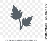 peppermint icon. trendy flat... | Shutterstock .eps vector #1235024479