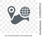 find on map icon. trendy flat... | Shutterstock .eps vector #1235025913